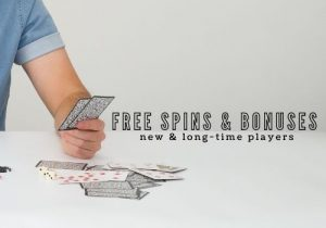 free spins and bonuses to new and long time players